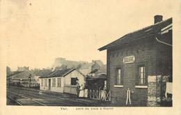 Belgique - Visé - Arrêt Du Train à Souvré - La Gare -  (ligne 40: Visé Liège). - Visé