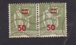 France, Paire Type Paix 50c Sur 75c, Olive, 1941 - Gebraucht