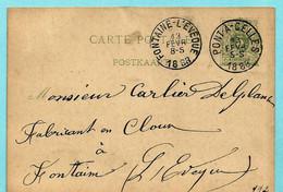 Postkaart Type N°45, Afst. PONT-A-CELLES 13/02/1888 - Postcards [1871-09]