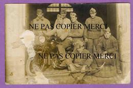 MOSELLE - Carte Photo De Militaires Avec Moto KOEHLER ESCOFFIER - 30éme Régiment Metz Ou Sarrebourg Ou Sarreguemines - Autres Communes