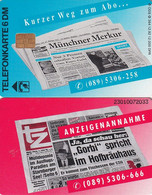 GERMANY - Münchner Merkur Newspaper(O 394), Tirage 12000, 12/92, Mint - Pubblicitari