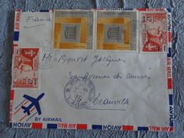 1967 BY AIRMAIL..ENVELOPPE ROYAUME DU LAOS VERS DEAUVILLE - 4 TIMBRES - Sammlungen