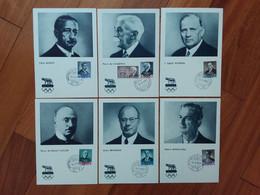 SAN MARINO - Pre Olimpica Roma 1960 - 6 Cartoline Maximum + Spese Postali - FDC