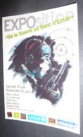 """Carte Postale """"Cart'Com"""" (2004) Exposition """"De La Guerre Au Banc D'Ecole"""" (Bastille) UNICEF (enfant Avec Une Arme) - Advertising"""