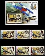 AIRPLANES & FEMALE AVIATORS - CUBA 2011 - MNH SET + SOUVENIR SHEET - Sc 5189-5195 - Flugzeuge