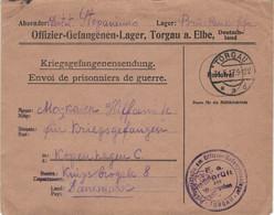 Offizier-Gefangenen-Lager Torgau Elbe Brückenkopf 31.5.1917 > Moskauer Hilfscomité Kopenhagen - Storia Postale