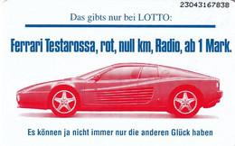 GERMANY(chip) - Ferrari Testarossa, Lotto(O 767), Tirage 1000, 04/93, Mint - Autos