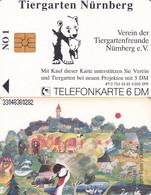 GERMANY - Animals, Tiergartenfreunde Nürnberg E.V.(Zoolandschaft-Aquarell)(O 754), Tirage 4000, 04/93, Mint - Non Classificati