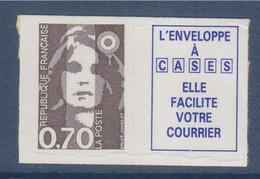 Marianne De Briat Dite Du Bicentenaire Neuf Adhésif N°5b De 0.70€ (2824) + La Vignette - KlebeBriefmarken