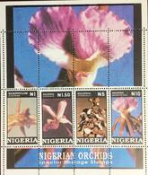 Nigeria 1993 Orchids Minisheet MNH - Orchidee