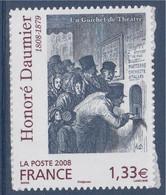 Honoré Daumier, Gravure, Un Guichet De Théâtre Adhésif N°224 (4305) Neuf - KlebeBriefmarken