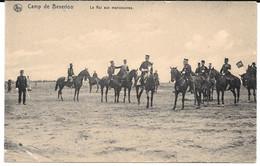 Cpa Camp De BEVERLOO / Le ROI Aux Manoeuvres . - Leopoldsburg (Camp De Beverloo)