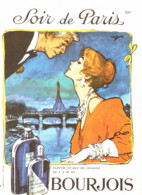 """PUB PARFUM  """" SOIR De PARIS  """" De  """" BOURJOIS  """"   1961  ( 33 ) - Altri"""
