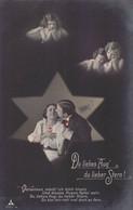 """""""Du Liebes Aug', Du Lieberstern"""" - Couple, étoile, Enfants, Anges - Sceau, Bataillon 59, Feldpost - Couples"""