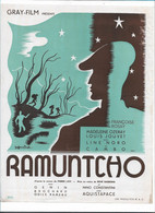 Synopsis Affichette  MADELEINE OZERAY LOUIS JOUVET GRAY FILM Présente RAMUNTCHO .27,5 / 21,3 Cm - Cinema Advertisement