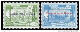 (27) Myanmar / Burma / Birmanie   Hunger / Faim / Surcharges / Overprints  ** / Mnh  Michel 174/75 - Myanmar (Burma 1948-...)