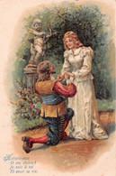 """Accepte- Moi, O Ma Chérie!"" - P.F. B 2812 - Cupidon - Gaufrée - Couples"