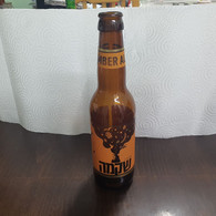 ISRAEL-A Cloudy Sycamore-beer In The Style Of Eyal Amber(Alcohol-5.5%)-(330ml)-(19/8/21)-bottle Used - Beer