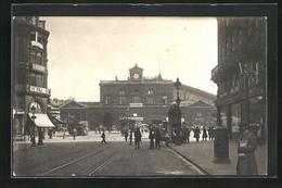 CPA Lille, Gare Du Nord, Strasse Zum Nordbahnhof Hin - Lille