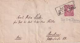 ALLEMAGNE  1878  LETTRE DE LISSA - Storia Postale