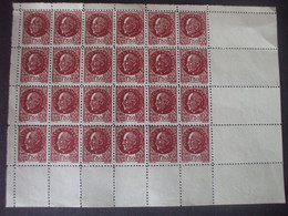 Bloc Complet De 24 Timbres N° 517, Cachet Violet Au Verso : Atelier Des FauxTBEétat - 1941-42 Pétain