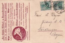 ALLEMAGNE  1918 CARTE DE STUTTGART - Storia Postale