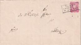 ALLEMAGNE  1883 LETTRE DE TANNA - Storia Postale