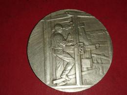MÉDAILLE ARGENT 21 Gr. 1924 Asso. Des Tissus Et Textiles Graveur A.RIVET 36mm - Professionals / Firms