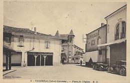 CPA -( 47) VILLEREAL - Place De L Eglise.-Phototype Marcel Delboy -BORDEAUX (ecrite En 1934) - Autres Communes