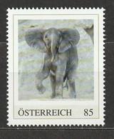Österreich Personalisierte BM Tierkinder Im Tiergarten Schönbrunn Elefant Kibali ** Postfrisch - Private Stamps