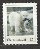 Österreich Personalisierte BM Tierkinder Im Tiergarten Schönbrunn Eisbär Finja ** Postfrisch - Private Stamps