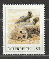 Österreich Personalisierte BM Tierkinder Im Tiergarten Schönbrunn Gepard ** Postfrisch - Private Stamps