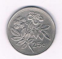 25 CENTS 1998  MALTA  /7154/ - Malta