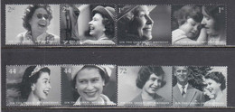 Great Britain 2006 - 80th Birthday Of Queen Elizabeth II, Set Of 8 Stamps, MNH** - Unused Stamps