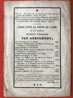 1833 - PRIESTER - DECES - OVERLIJDEN - FRANCOIS VAN AERSCHODT - LEUVEN - MECHELEN - ROME - BRUXELLES - Devotion Images
