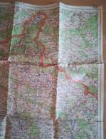 Carte Militaire Originale - Carte Générale De France MEZIERES, CARTE DE FRANCE ET DES FRONTIERES, échelle 1:200 000 ... - Mapas Geográficas