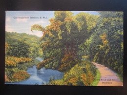 GREETINGS FROM JAMAICA - BY ROAD AND RIVER. TRELAWNY - Other