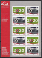 "Football / Soccer / Fussball - EM 2020: Germany/Privatpost ""Brief"" - Bogen ** - Fußball-Europameisterschaft (UEFA)"