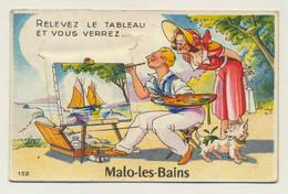 MALO LES BAINS - Carte Fantaisie à Système - 10 Vues - Relevez Le Tableau Et Vous Verrez... - Malo Les Bains