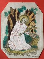 Image Pieuse - 18e - GRAVURE GOUACHE - Sign Fruytiers - SAINT BERNARDUS - Devotieprenten