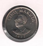 ZAIRE - MOBUTU * 5 Makuta 1977 * F D C * Nr 10446 - Other