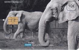 ISN-105 TARJETA DE ESPAÑA DE ISERN DE SERIE FAUNA Nº7 ELEFANTE- ELEPHANT - Non Classificati