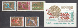 USSR 1968 - Olympic Summer Games, Mexoco, Mi-nr. 3517/21+Bl. 51, MNH** - Unused Stamps