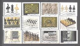 France Autoadhésifs Oblitérés (Série Complète : Jeux D'échecs - L'art Du Jeu - Jeu Dans L'art) (lignes Ondulées) - Oblitérés