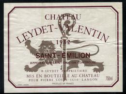 Bordeaux // Saint-Emilion, Château Leydet-Valentin 1982 - Bordeaux