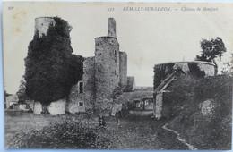 C. P. A. : 50 REMILLY SUR LOZON : Château De Montfort, Animé - Altri Comuni