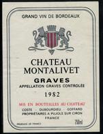 Bordeaux // Château Montalivet 1982 - Bordeaux
