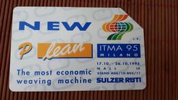 Itma 95 Milano Phonecard Used Rare - Openbare Reclame