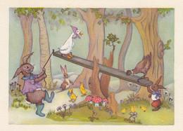 Dressed Animals Swinging Rabbit Duck Chicken Chicks Mushrooms Pilz Champignons - Dressed Animals