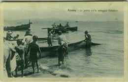 FORMIA ( LATINA ) LA PESCA SULLA SPIAGGIA VENDICIO - EDIZIONE GUERINO D'ELIA - SPEDITA 1926  ( 7697) - Latina
